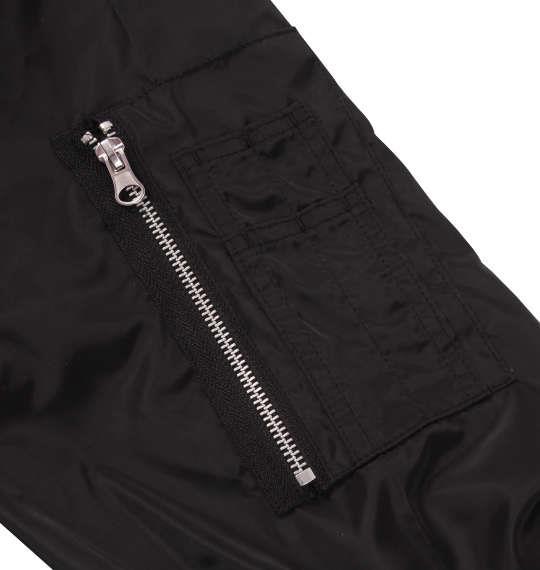 大きいサイズ メンズ SHOCK NINE ワッペン付 MA-1 ジャケット アウター ブラック 1153-8311-2 3L 4L 5L 6L