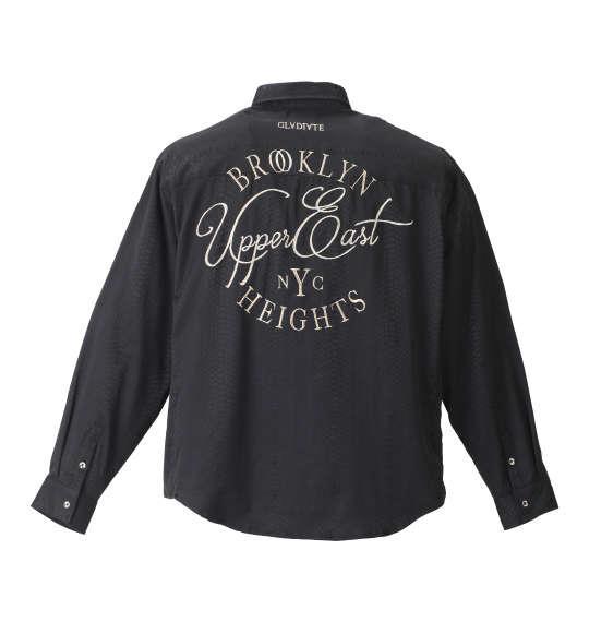 大きいサイズ メンズ GLADIATE パイソンジャガード 刺繍 長袖 シャツ 長袖シャツ ブラック 1157-8336-1 3L 4L 5L 6L