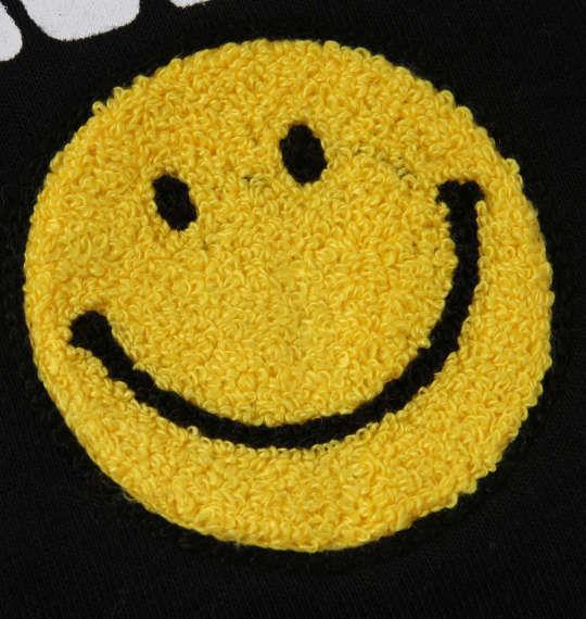 大きいサイズ メンズ SMILEY FACE 裏起毛 フルジップパーカー 長袖 パーカー ブラック 1158-8320-2 3L 4L 5L 6L