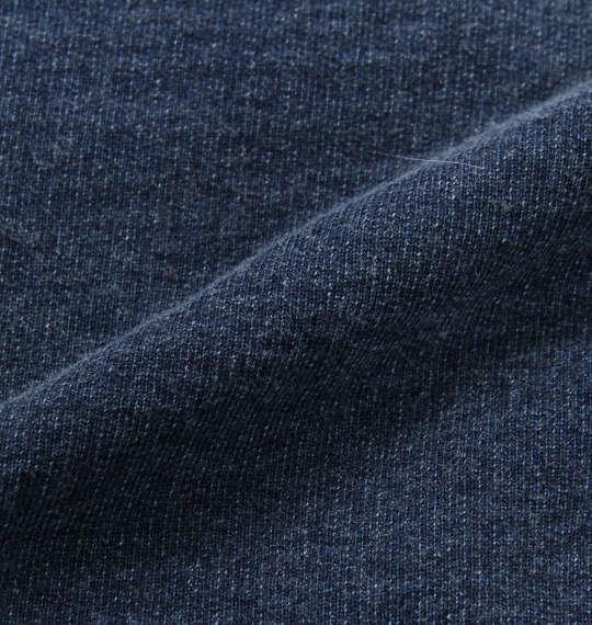 大きいサイズ メンズ in the attic 裏ボア プリント & 刺繍 フルジップパーカー 長袖 パーカー インディゴ 1158-8331-1 2L 3L 4L 5L 6L