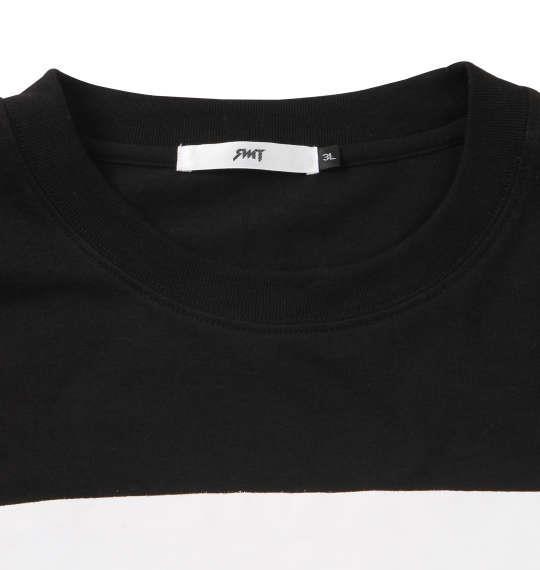 大きいサイズ メンズ RIMASTER 天竺袖 プリント 長袖 Tシャツ 長袖Tシャツ ブラック 1158-8360-2 3L 4L 5L 6L 8L