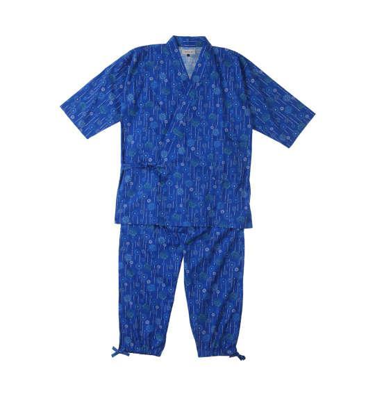 大きいサイズ メンズ Mc.S.P 花火 総柄 プリント作務衣 ブルー 1159-8321-1 3L 4L 5L 6L 7L 8L