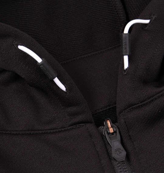 大きいサイズ メンズ DESCENTE ライトスムース ドライスウェット フーデッドジャケット 長袖 アウター ジャケット ジャンパー ブラック 1176-8320-2 3L 4L 5L 6L
