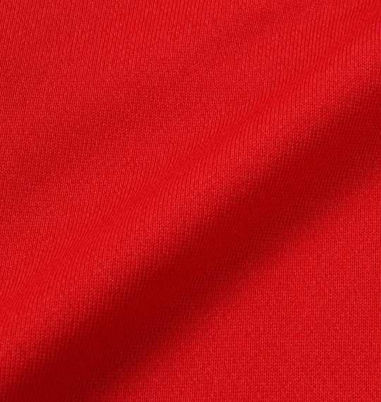 大きいサイズ メンズ DESCENTE ライトスムース ドライスウェット ジャケット 長袖 アウター ジャンパー レッド杢 1176-8321-1 3L 4L 5L 6L