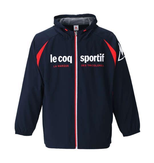 大きいサイズ メンズ LE COQ SPORTIF ウインドジャケット 長袖 アウター ジャケット ネイビー 1176-8350-1 2L 3L 4L 5L 6L