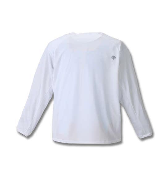 大きいサイズ メンズ DESCENTE クールトランスファードライメッシュ長袖Tシャツ ホワイト 1178-8300-1 3L 4L 5L 6L