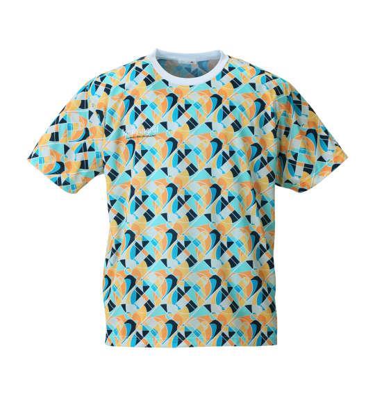 大きいサイズ メンズ LE COQ SPORTIF ジオメトリック柄半袖Tシャツ マルチ 1178-8320-1 2L 3L 4L 5L 6L