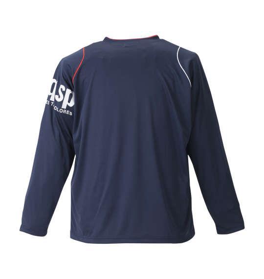 大きいサイズ メンズ LE COQ SPORTIF 長袖Tシャツ ネイビー 1178-8321-1 2L 3L 4L 5L 6L