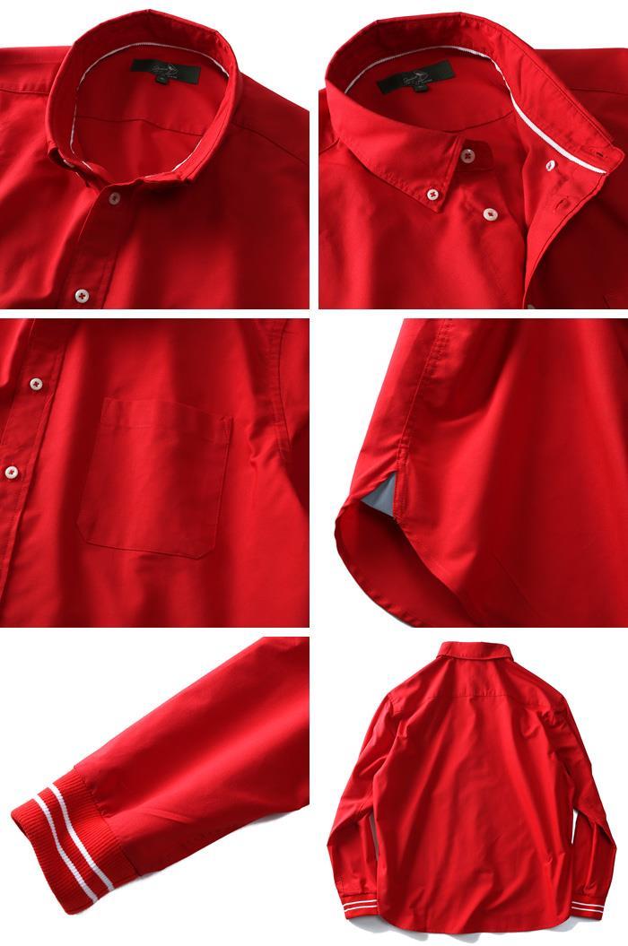 シャツ割 【大きいサイズ】【メンズ】Bowerbirds Works 長袖リフレクター付袖リブボタンダウンシャツ azsh-180414