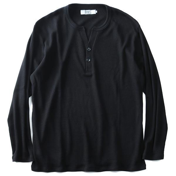 大きいサイズ メンズ DANIEL DODD サーマルヘンリーネックロングTシャツ 秋冬新作 azt-180460