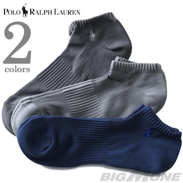 大きいサイズ メンズ POLO RALPH LAUREN (ポロ ラルフローレン) ワンポイント アンクル丈ソックス 3足セット USA直輸入 827063pk