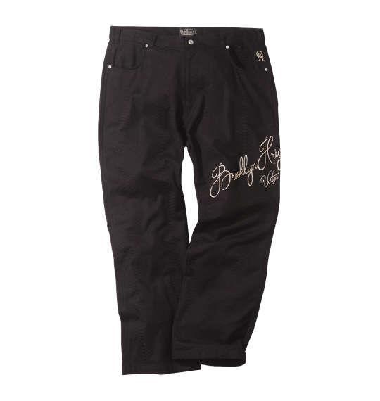 大きいサイズ メンズ GLADIATE パイソン ジャガード刺繍 パンツ ズボン ボトムス ブラック 1154-8370-1 100 110 120 130