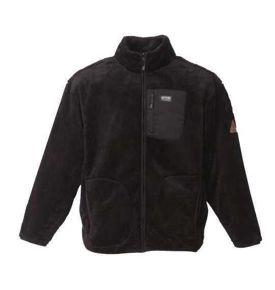 大きいサイズ メンズ OUTDOOR PRODUCTS 裏 メッシュ ボア フリースジャケット 長袖 ジャケット フリース ブラック 1158-8300-2 3L 4L 5L 6L 8L