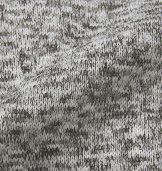 大きいサイズ メンズ SHELTY ニットフリース 刺繍 ショールカーディガン 長袖 カーディガン ミックスグレー 1158-8376-1 3L 4L 5L 6L