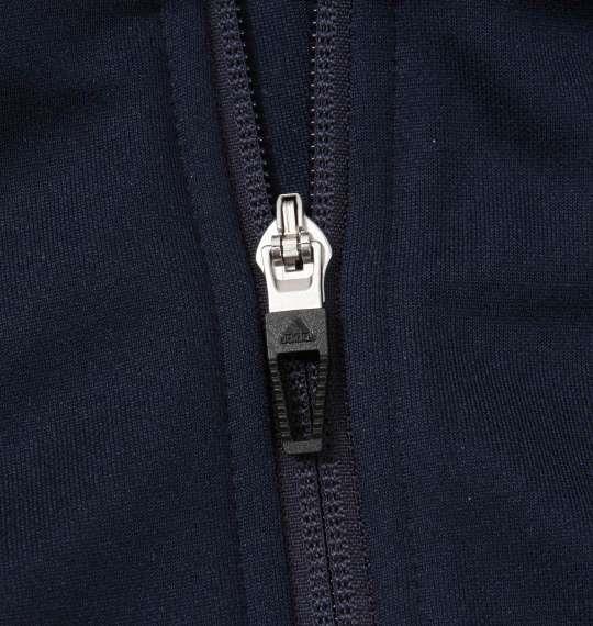大きいサイズ メンズ adidas ウォームアップ ジャケット 長袖 アウター ジャンパー ネイビー 1176-8330-1 3XO 4XO 5XO 6XO 7XO 8XO