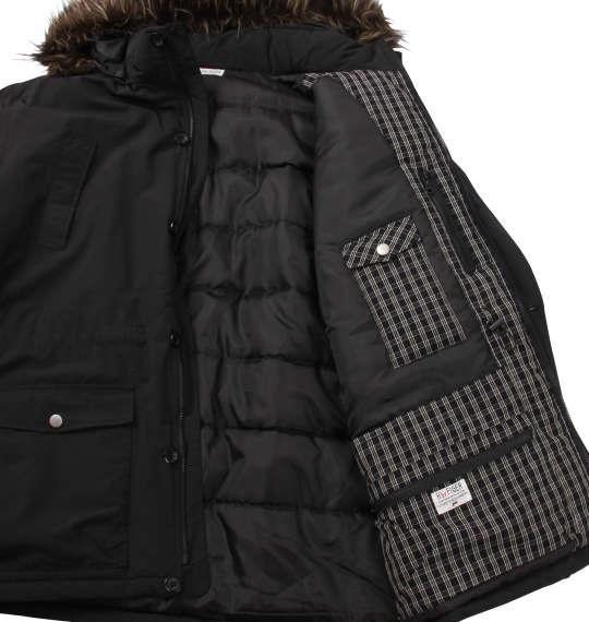 大きいサイズ メンズ H by FIGER 多機能 ポケット付 中綿ハーフコート アウター ブラック 1163-8300-1 3L 4L 5L 6L 8L
