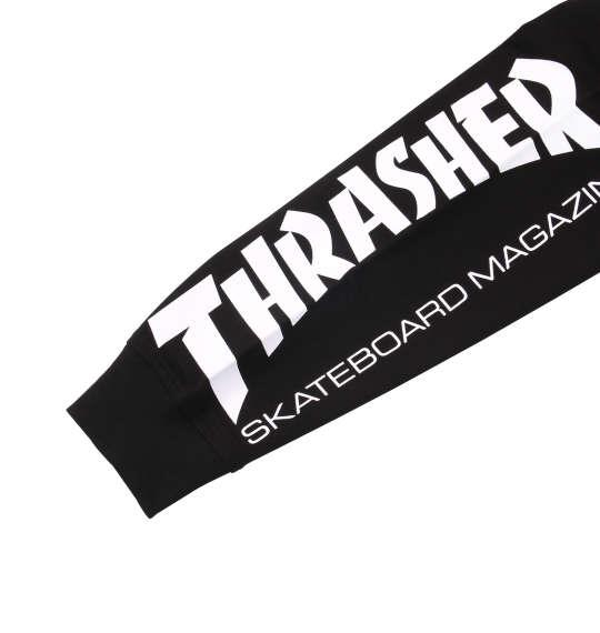 大きいサイズ メンズ THRASHER ポケット付長袖Tシャツ ブラック 1178-8600-2 3L 4L 5L 6L 8L