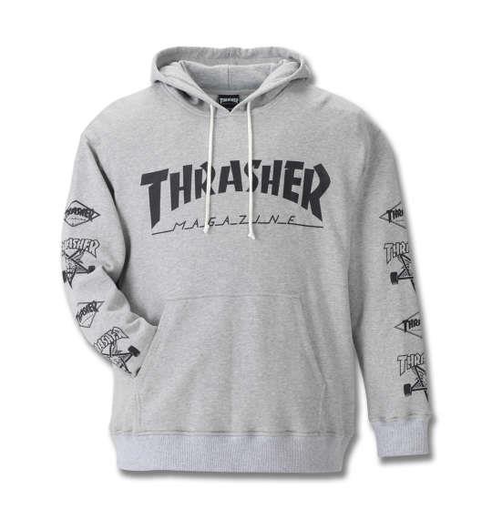 大きいサイズ メンズ THRASHER プルパーカー モクグレー 1178-8601-1 3L 4L 5L 6L 8L