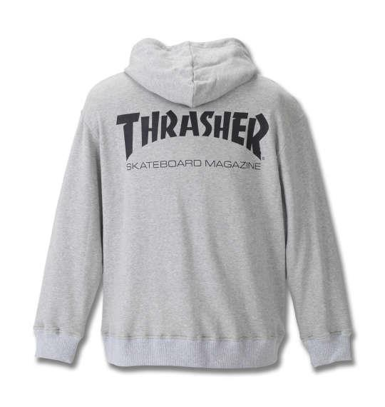 大きいサイズ メンズ THRASHER フルジップパーカー モクグレー 1178-8602-1 3L 4L 5L 6L 8L