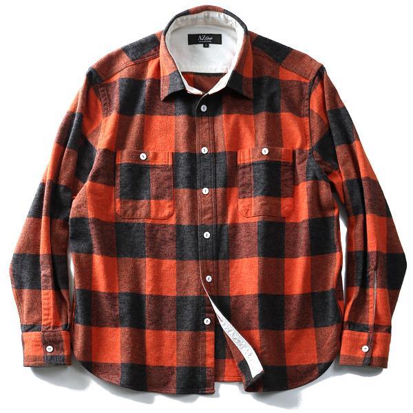 シャツ割 【大きいサイズ】【メンズ】AZ DEUX 長袖フランネルチェックワークシャツ azsh-180418