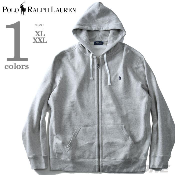 大きいサイズ メンズ POLO RALPH LAUREN ポロ ラルフローレン 長袖 パーカー フルジップパーカー グレー XL XXL USA 直輸入 710625887018