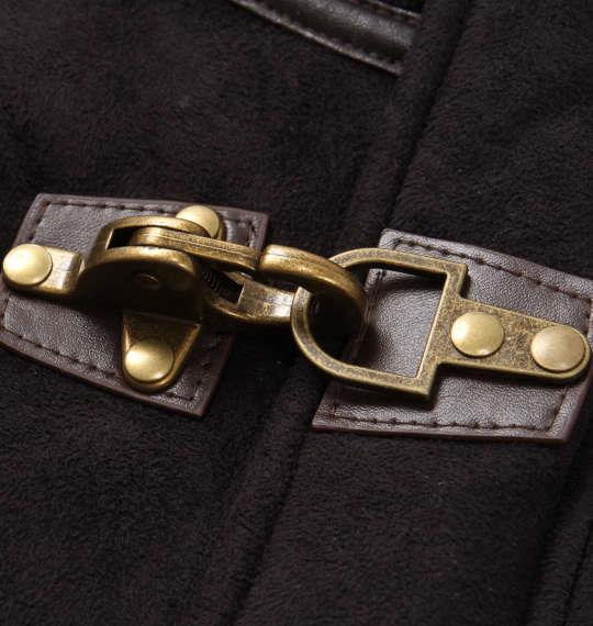 大きいサイズ メンズ PREPS フェイク ムートン ファイヤーマンコート アウター コート ブラック 1153-8360-2 3L 4L 5L 6L 8L
