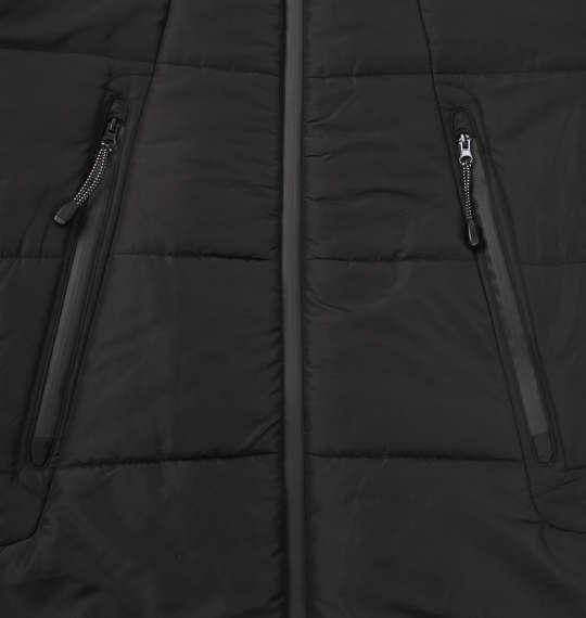 大きいサイズ メンズ PREPS ボリューム フード 中綿ジャケット アウター ジャケット ブラック 1153-8361-2 3L 4L 5L 6L 8L