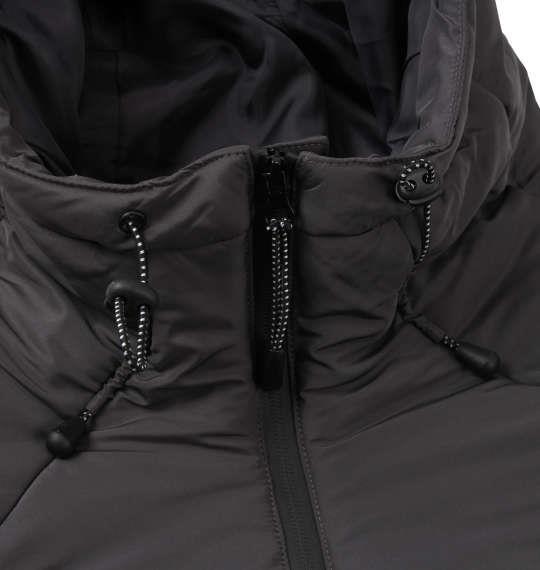 大きいサイズ メンズ PREPS ボリューム フード 中綿ジャケット アウター ジャケット グレー 1153-8361-3 3L 4L 5L 6L 8L