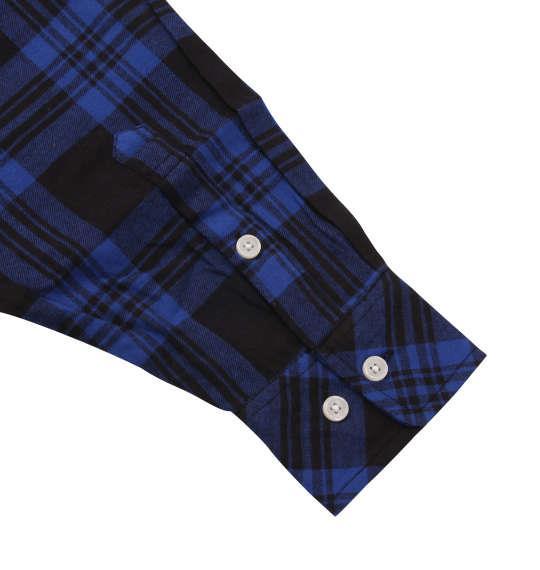 大きいサイズ メンズ Mc.S.P チェック 長袖 シャツ ボタンダウンシャツ ネルシャツ 長袖シャツ ブルー × ブラック 1157-8300-1 3L 4L 5L 6L 8L