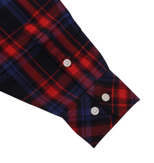 大きいサイズ メンズ Mc.S.P チェック 長袖 シャツ ボタンダウンシャツ ネルシャツ 長袖シャツ  レッド × ネイビー 1157-8301-1 3L 4L 5L 6L 8L