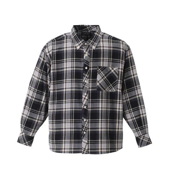 大きいサイズ メンズ Mc.S.P チェック 長袖 シャツ ボタンダウンシャツ ネルシャツ 長袖シャツ  サックス × ブラック 1157-8302-1 3L 4L 5L 6L 8L