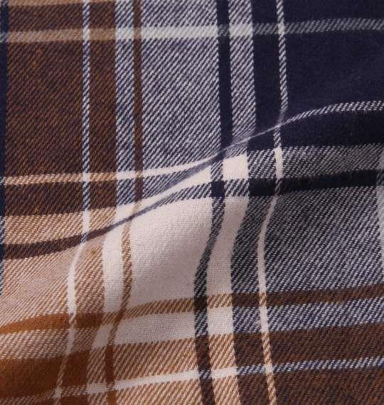 大きいサイズ メンズ Mc.S.P チェック 長袖 シャツ ボタンダウンシャツ ネルシャツ 長袖シャツ  キャメル × ネイビー 1157-8304-1 3L 4L 5L 6L 8L