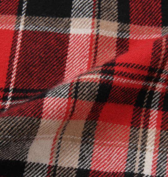 大きいサイズ メンズ OUTDOOR PRODUCTS 異素材 切替 チェック 長袖 シャツ ボタンダウンシャツ ネルシャツ 長袖シャツ レッド系 1157-8320-1 3L 4L 5L 6L 8L