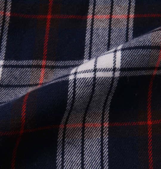 大きいサイズ メンズ marie claire homme ツイル 起毛 チェック 長袖 パジャマ ネイビー系 1159-8350-1 3L 4L 5L 6L 8L