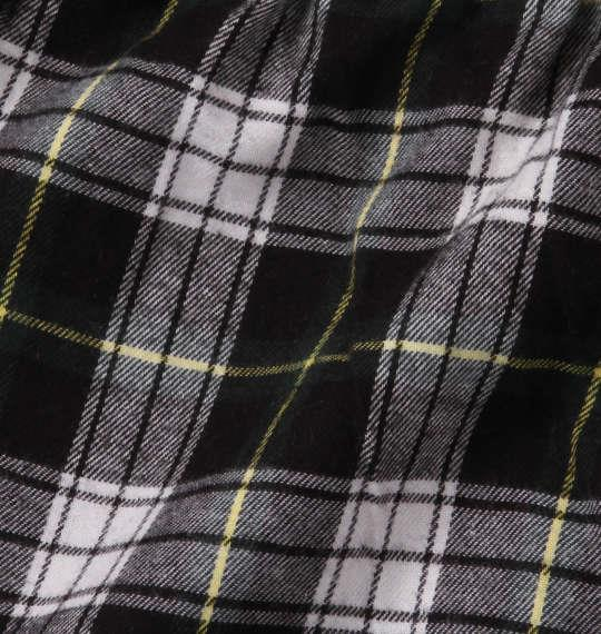 大きいサイズ メンズ marie claire homme ツイル 起毛 チェック 長袖 パジャマ ブラック系 1159-8350-2 3L 4L 5L 6L 8L
