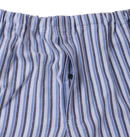 大きいサイズ メンズ marie claire homme ツイル 起毛 ストライプ 長袖 パジャマ ブルー系 1159-8351-2 3L 4L 5L 6L 8L
