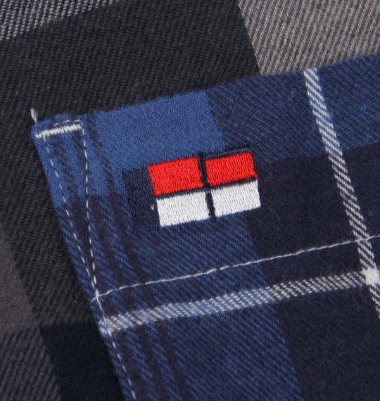 大きいサイズ メンズ H by FIGER クレイジー チェック 長袖 シャツ ボタンダウンシャツ ネルシャツ ブルー系 1167-8350-2 3L 4L 5L 6L 8L
