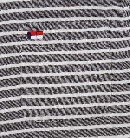 大きいサイズ メンズ H by FIGER 長袖 シャツ ボタンダウンシャツ ネルシャツ ブラックボーダー 1167-8351-3 3L 4L 5L 6L 8L
