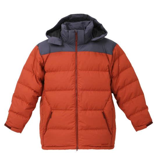 大きいサイズ メンズ Marmot ダウンジャケット アウター ジャンパー ブリック × グレー 1173-8331-3 3L 4L 5L 6L