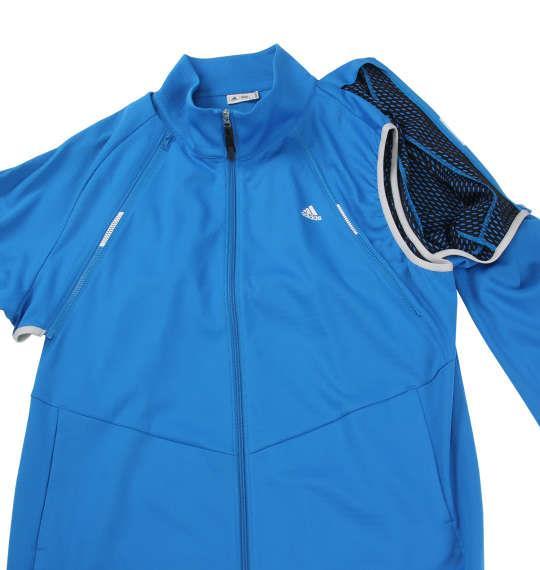 大きいサイズ メンズ adidas golf ディタッチャブル ジャケット アウター ブライトブルー 1173-8350-1 4XO 5XO 6XO 7XO