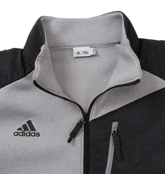 大きいサイズ メンズ adidas golf ウルトラライトニットスウェット グレーヘザー 1178-8331-1 4XO 5XO 6XO 7XO