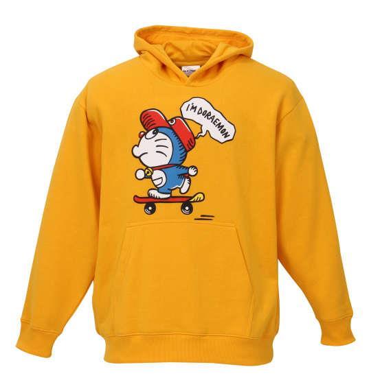 大きいサイズ メンズ I'm Doraemon 裏起毛プルパーカー イエロー 1178-8366-1 3L 4L 5L 6L 8L