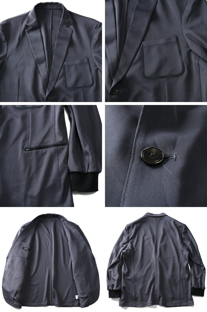 大きいサイズ メンズ LINKATION セットアップ ポンチ 袖 リブ ジャケット アスレジャー スポーツウェア 秋冬 新作 la-cj180405