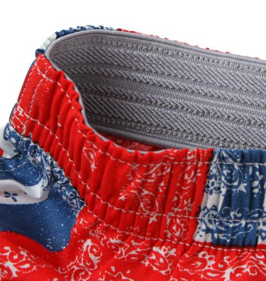 大きいサイズ メンズ MICHIKO LONDON KOSHINO 北欧花 POP柄 トランクス 下着 肌着 インナー 前開き パンツ レッド系 1149-8395-1 4L 5L 6L 8L