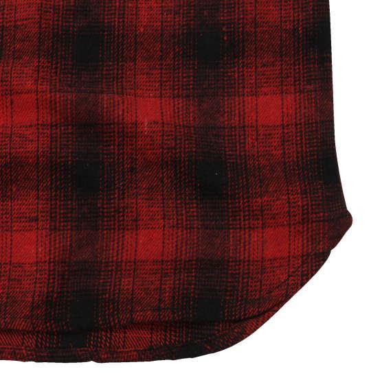 大きいサイズ メンズ BETTY BOOP オンブレチェック長袖ネルシャツ レッド × ブラック 1177-8340-1 3L 4L 5L 6L