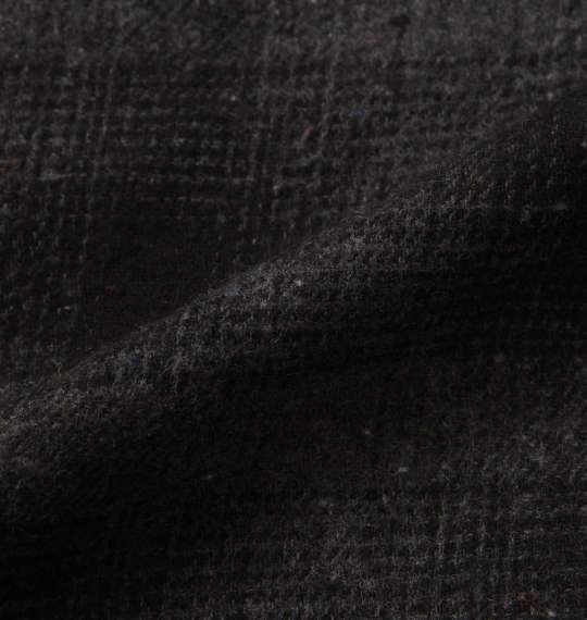 大きいサイズ メンズ BETTY BOOP オンブレチェック長袖ネルシャツ チャコール × ブラック 1177-8340-2 3L 4L 5L 6L