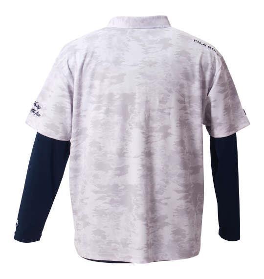 大きいサイズ メンズ FILA GOLF カモ柄半袖シャツ+インナーセット ホワイト × ネイビー 1178-8360-1 3L 4L 5L 6L