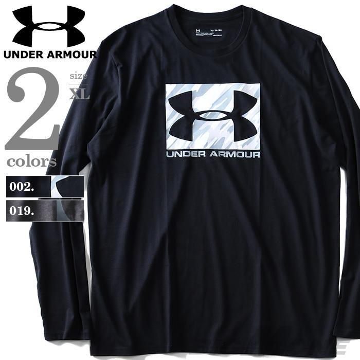 大きいサイズ メンズ UNDER ARMOUR アンダーアーマー 長袖 Tシャツ ロンT スポーツ プリント ロングTシャツ スポーツウェア USA 直輸入 1318584