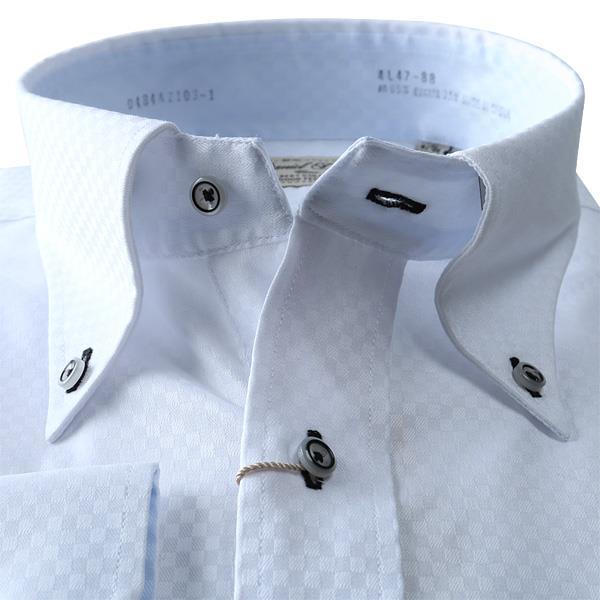 2点目半額 大きいサイズ メンズ DANIEL DODD 形態安定 長袖 Yシャツ 長袖 ワイシャツ ボタンダウン ストレッチ d484az103