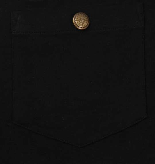 大きいサイズ メンズ BSA MOTORCYCLES 天竺 コンチョ釦 ポケット付 長袖 Tシャツ 長袖Tシャツ ブラック 1168-8370-2 3L 4L 5L 6L